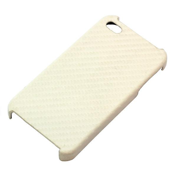 BackCover für iPhone 4/4S, Carbonlook, weiß