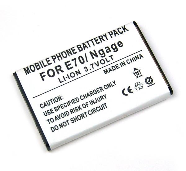 Akku für Nokia 6165, 6600, 6630, E70, NGage QD, wie BL-6C