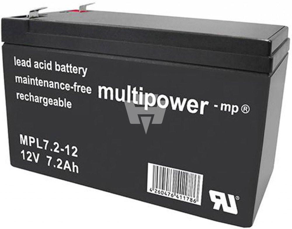Blei-Akku Multipower MPL7.2-12B, 12 Volt, 7,2 Ah, 10-Jahres-Batterie
