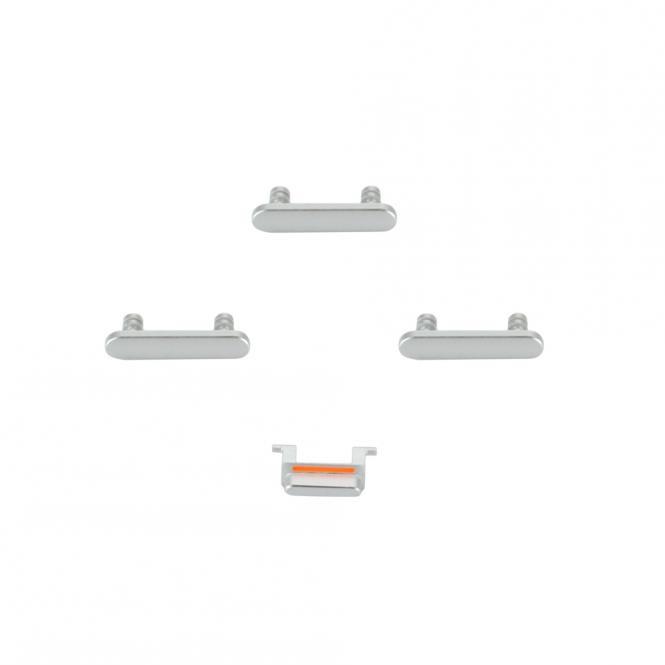 Apple Seiten-Tasten Set für iPhone 8, 4 Tasten, weiß