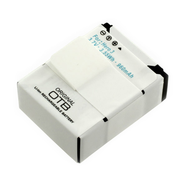 Akku für Action-Kamera GoPro HERO3, HERO3+, Li-Ion, 960 mAh