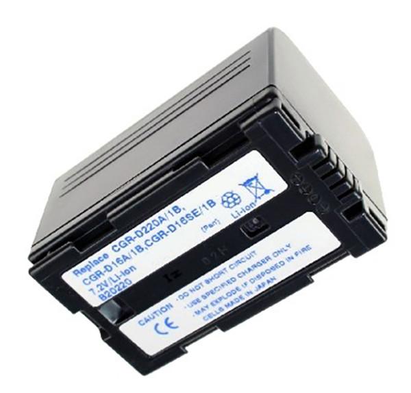 Akku wie Panasonic CGR-D220, anthrazit
