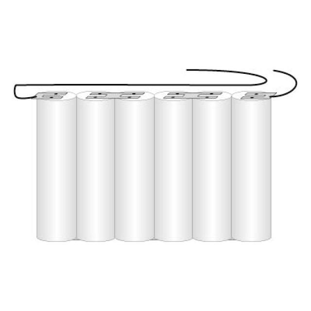 Akkupack für Notbeleuchtung 7.2V, F1x6 Saft, C (Baby), VNT C mit Kabel, 2.5Ah...