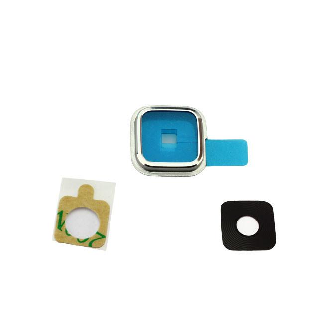 Kamera Rahmen + Glas für Samsung Galaxy S5 G900H, silber