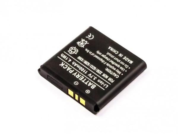 Akku für Nokia 3250, 6151, 6233, 6234, 6280, 6282, 6288, 9300, N73, N77, N93, wie BP-6M