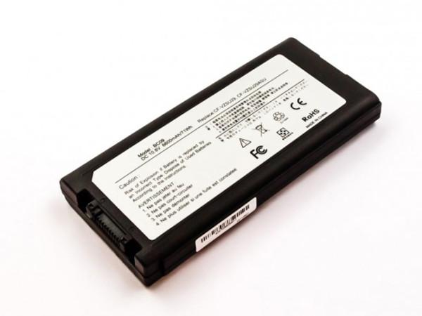 Hochleistungs-Akku für Panasonic ToughBook 51, 52, CF-29, CF-51, CF-52, wie CF-VZSU29, 6600 mAh