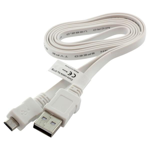 Alcatel Datenkabel USB- / Micro-USB-Anschluss mit Flachkabel, 0.95 m, für HTC, Huawei...