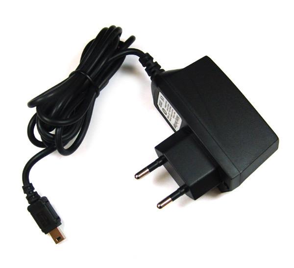 Netzladegerät,100-250V, mit mini USB-Steckeranschluss, 1A für Becker, Blackberry, HTC, Medion