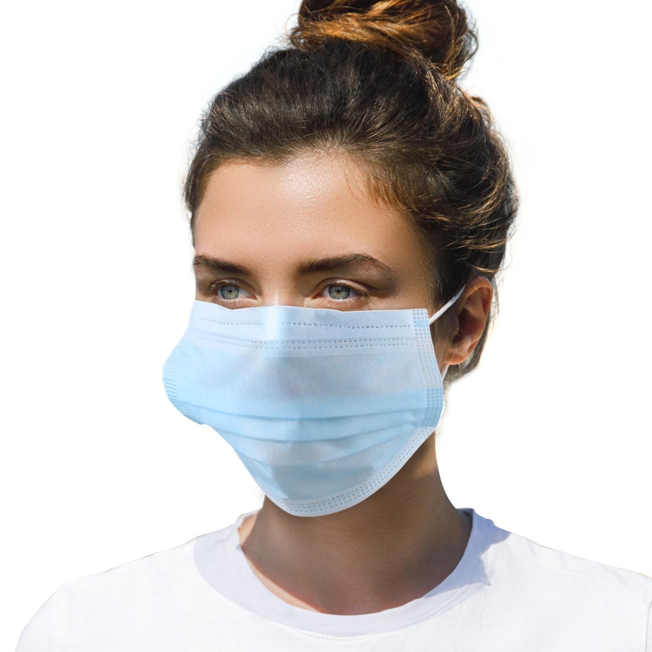 EMCOM 10 x OP-Schutzmaske - Mund- und Nasen-Schutzmaske 3-lagig