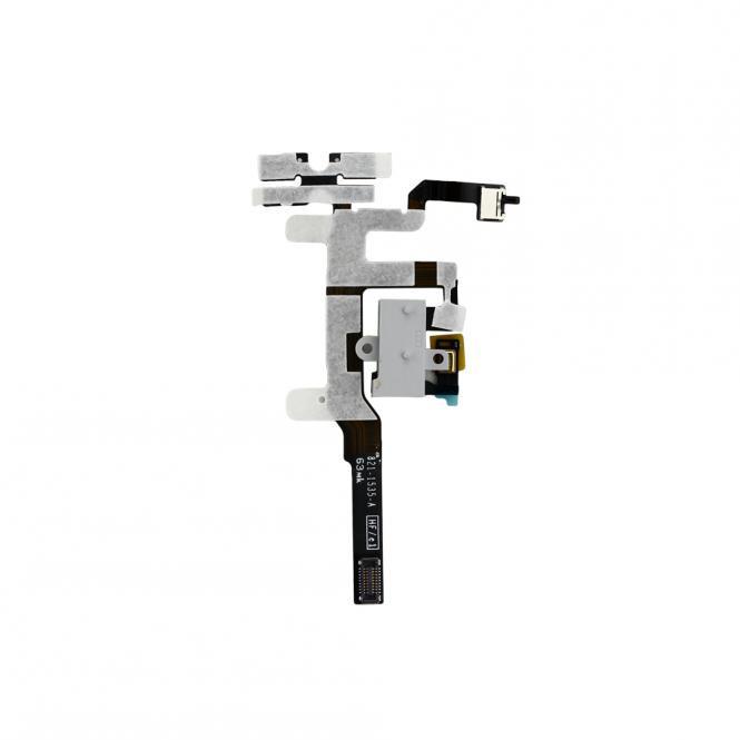 Apple Kopfhörer Buchse und Volume-Mute Button mit Flex Kabel iPhone 4S, weiß