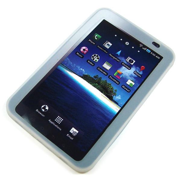 Back-Case fĂĽr Samsung P1000 Galaxy Tab, weiĂź, (Silikon)