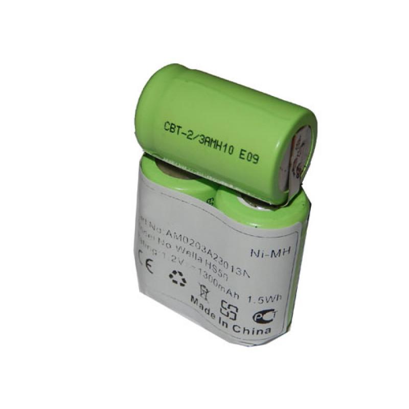 Akku für Haarschneider Wella Xpert HS50, Tondeo Eco XP, wie N-500AC 2/3A, 3.6...