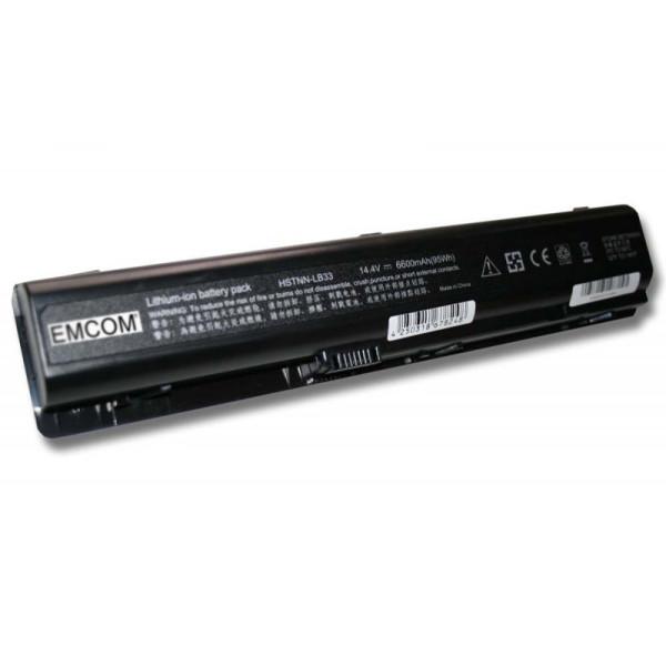 Hochleistungs-Akku für HP Pavilion DV9000, DV9100, DV9200, DV9500, DV9600, wie HSTNN-UB33, 6.6Ah