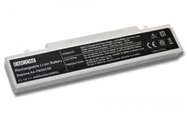 Akku für Samsung E151, E152, NP300, P480, P580, Q318, Q460, R580, R730, wie AA-PB9NC6B, 4.4Ah, weiß