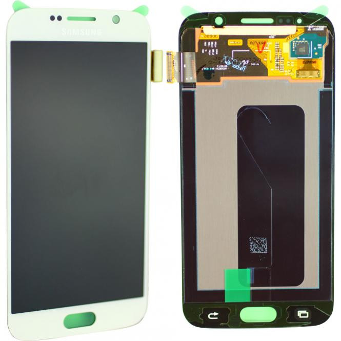 Komplett LCD+ Frontcover für Samsung Galaxy S6 G920F, weiß
