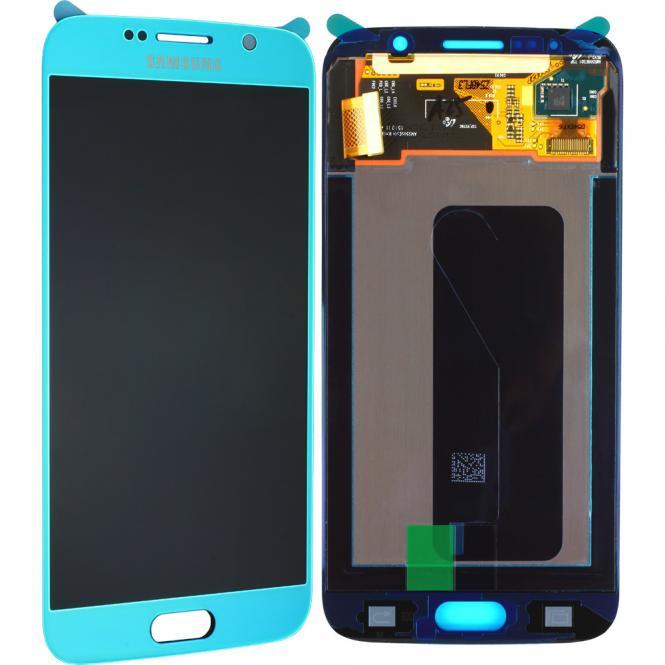 Komplett LCD+ Frontcover für Samsung Galaxy S6 G920F, blau