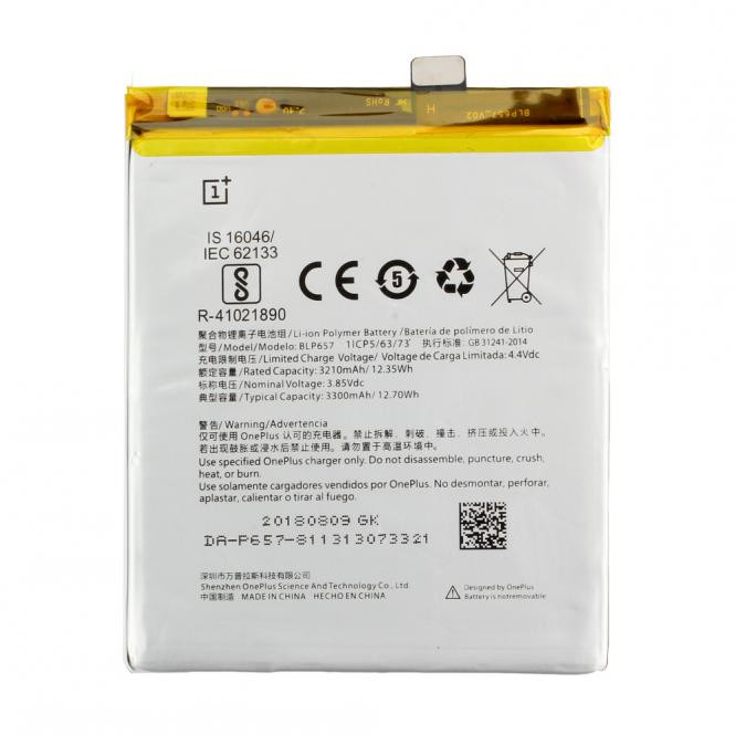 Akku Original OnePlus BLP657 für OnePlus 6, OnePlus 5T