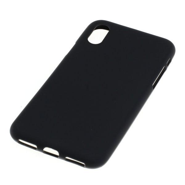 BackCase / Schutz-Hülle für Apple iPhone X, iPhone XS aus flexiblem TPU, schwarz