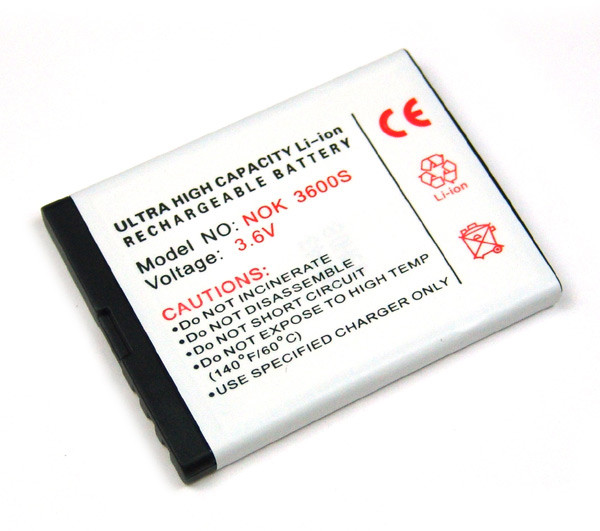 Akku für Nokia 1650, 2680 slide, 3600 slide, 3710 fold, 3711, 6208 classic, 7610 Supernova wie BL-4S