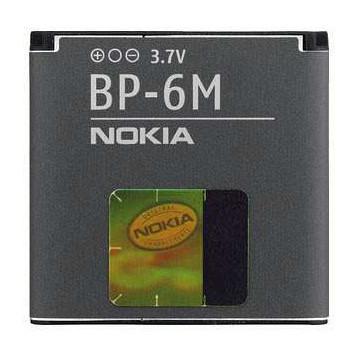 Akku Nokia original BP-6M für 3250 XpressMusic, 6151, 6233, 6234, 6280, 6288, 9300, N73, N77, N93