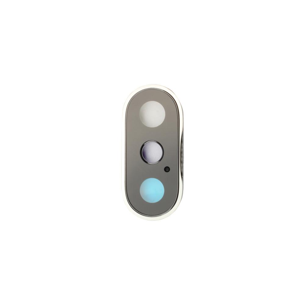 Apple Rücken- /Hauptkameralinsen mit Rahmen, passend für iPhone XS, silber