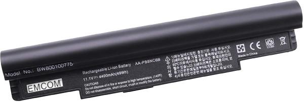 Akku für Samsung N110, N120, N140, N270, NC10, schwarz, wie AA-PB8NC6B, AA-PB8NC6B/E, 4400mAh