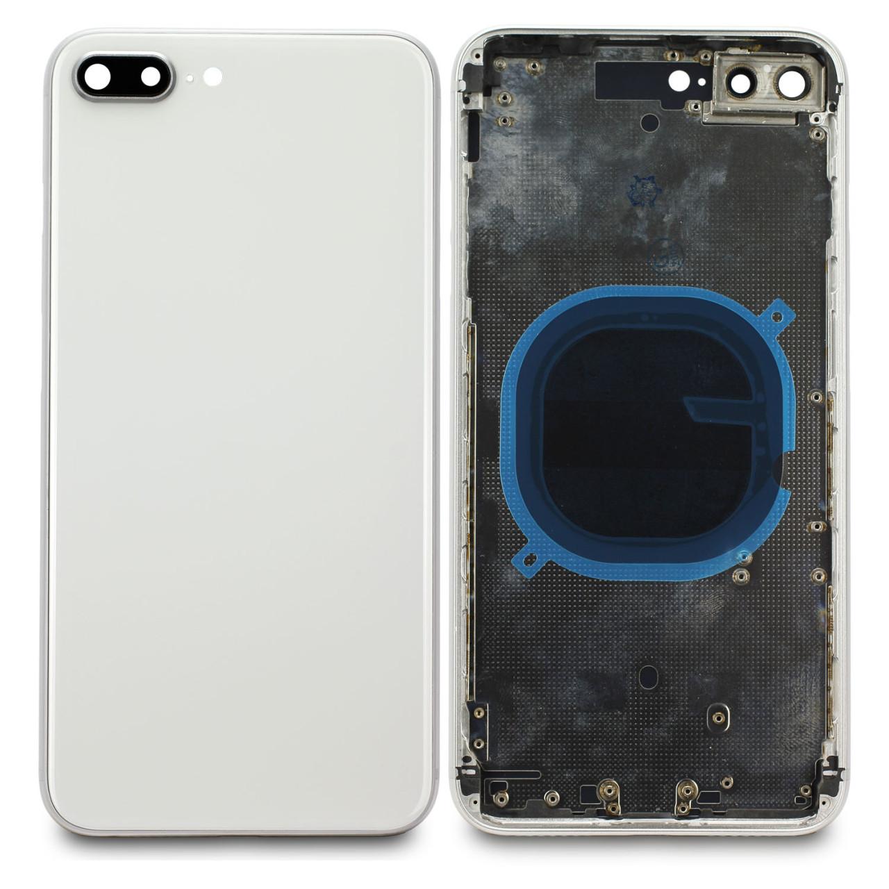 Apple Silbernes Cover (ohne Logo) für Rückseite, inkl. Tastenset und SIM-Halter, pa...