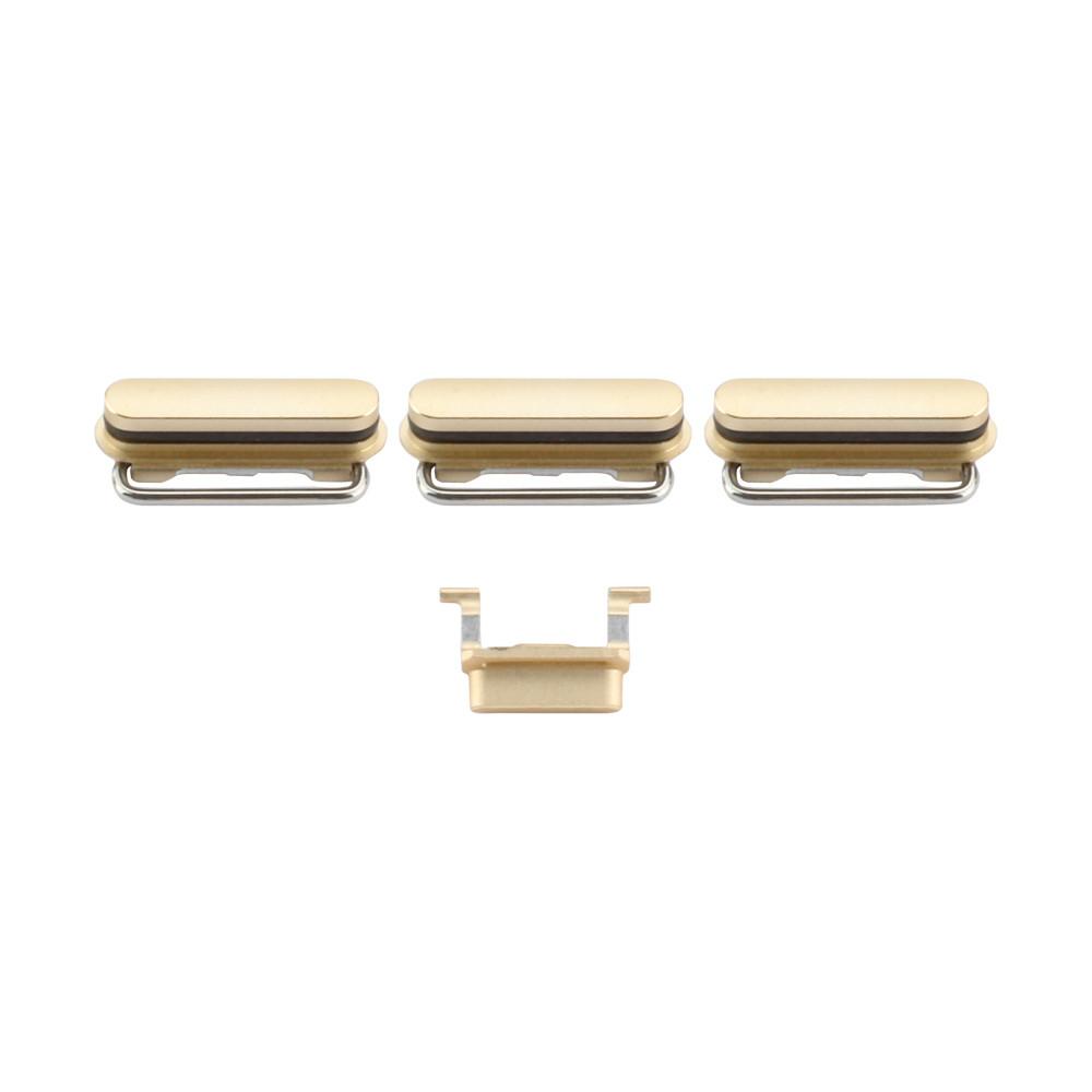 Apple Tasten-Set (Lautstärke+ - , Lautlos, Power), passend für iPhone 6S Plus, gold