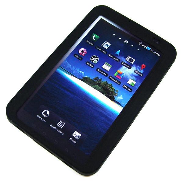 Back-Case fĂĽr Samsung P1000 Galaxy Tab, schwarz, (Silikon)