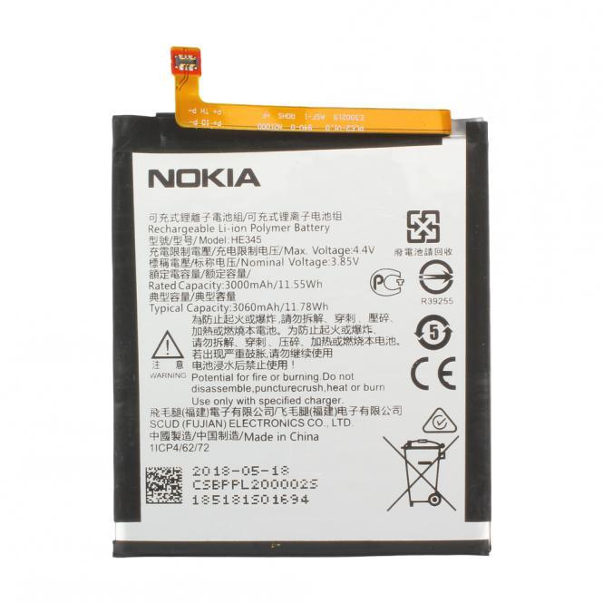 Akku Nokia Original für Nokia 6, Typ HE345, 3.85V, 3000 mAh