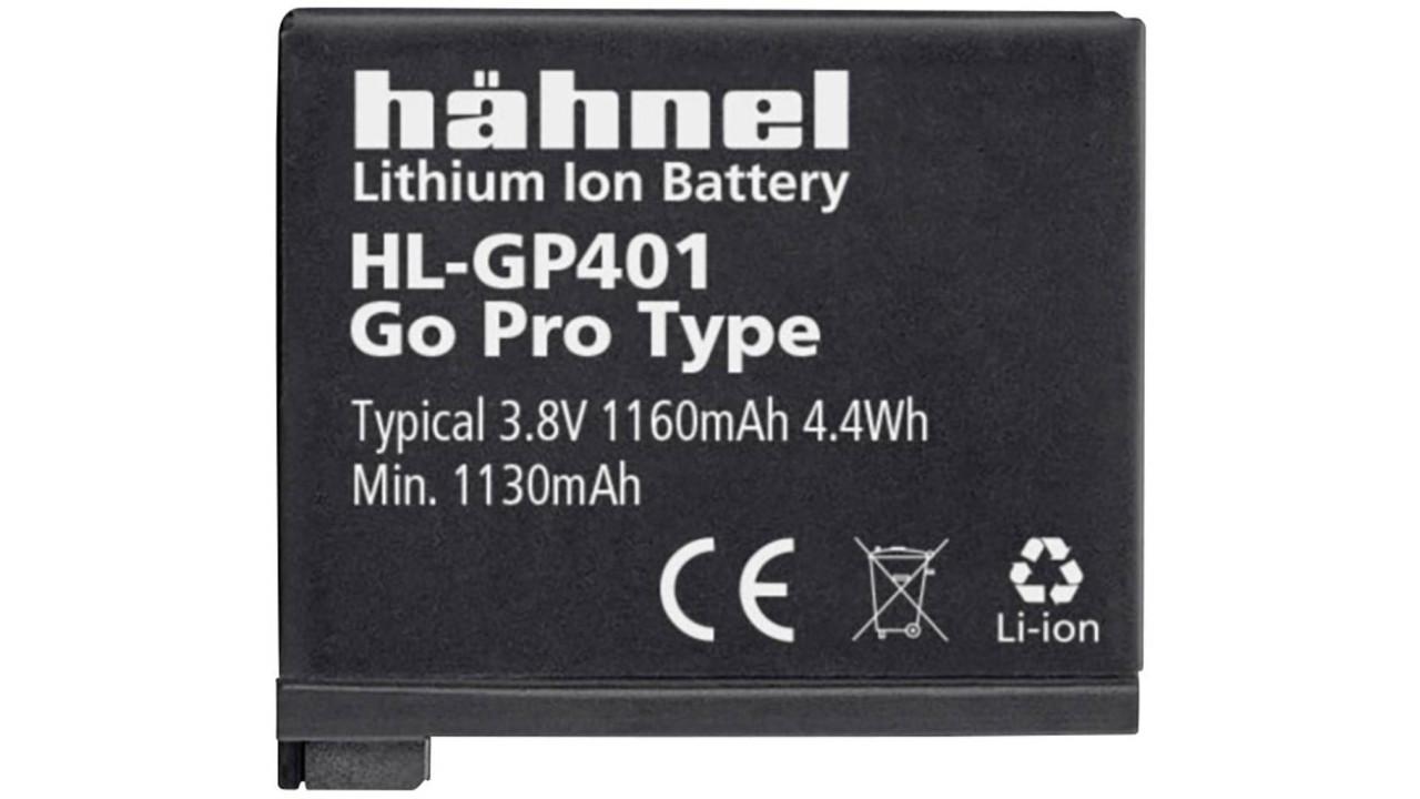Akku Hähnel HL-GP401, für Action-Kamera GoPro HERO4, wie AHDBT-401, BT-401, L...