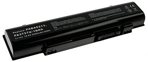 Akku für Toshiba QOSMIO F60, F750, F755, DYNABOOK T750, T851, V65, wie PA3757U, PABAS213, 4.400.mAh