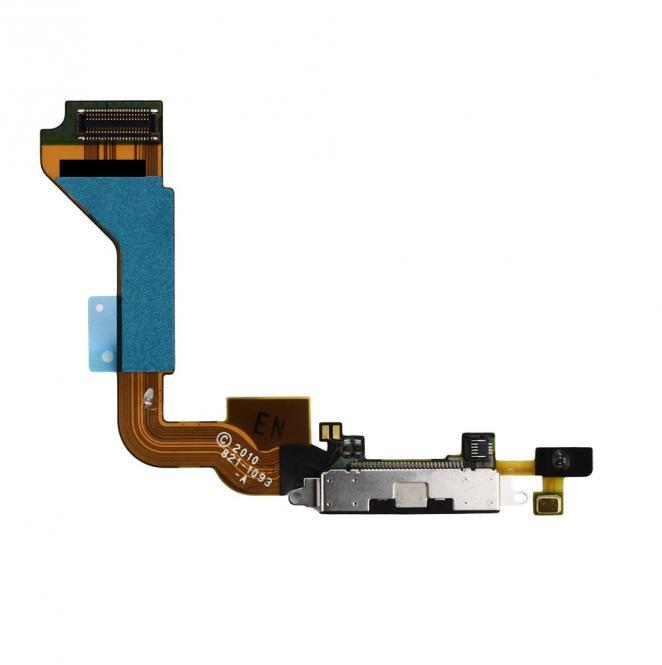 Dock-Connector Lade-AnschluĂź mit Flexkabel fĂĽr iPhone 4, schwarz