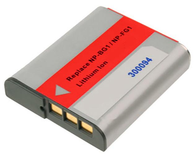 Akku wie Sony NP-BG1, NP-FG1 für Cybershot DSC H10, H20, H50, HX10, T100, T20...