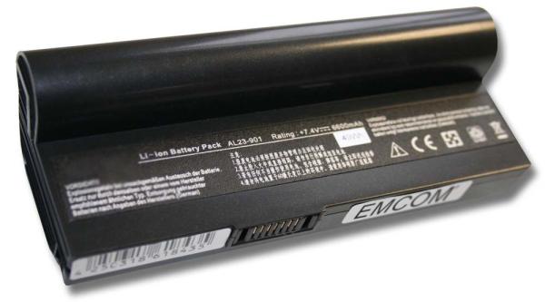 Akku für Asus Eee PC 901, 904, 1000, 1200, wie AL22-901, AL23-901, 6600mAh