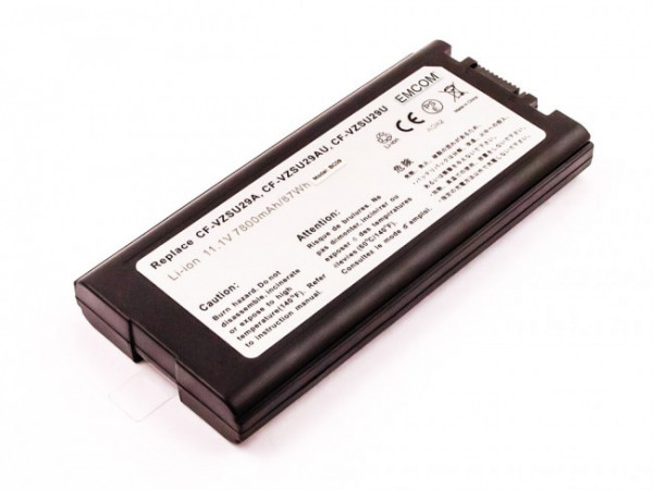 Hochleistungs-Akku für Panasonic ToughBook CF-29, CF-51, CF-52, wie 6140-540-6513, 7800 mAh