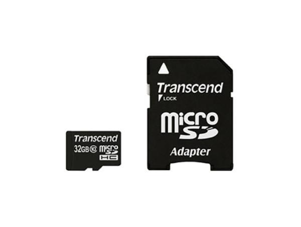 Speicherkarte micro-SD HC Card (Trans Flash), 32GB, Class 10, inkl. Adapter auf SD-Card