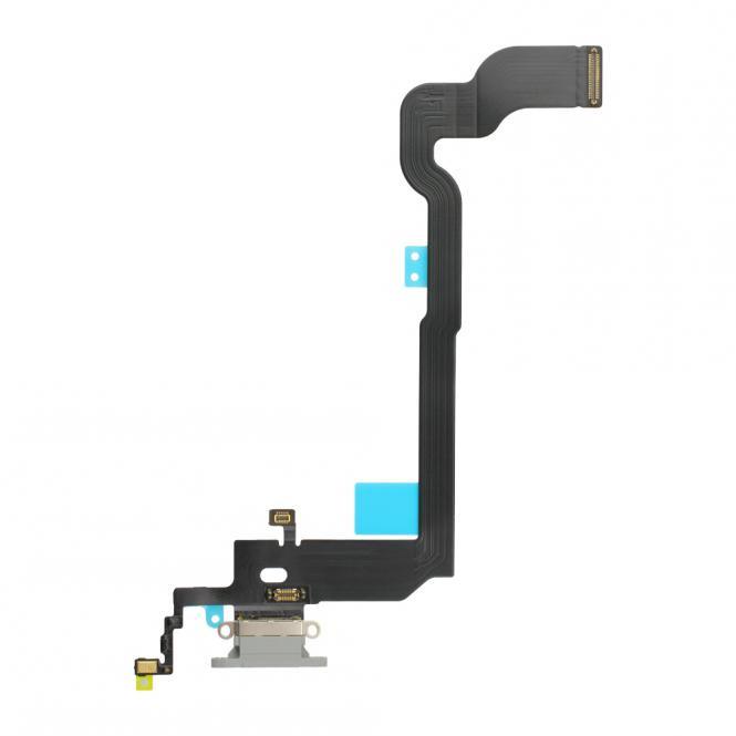 Dock-Connector Lade-AnschluĂź mit Flexkabel fĂĽr iPhone X, weiĂź
