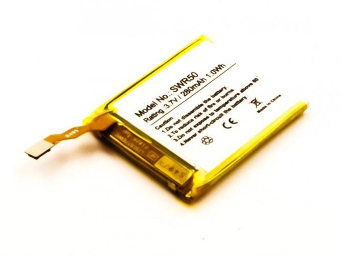 Akku fĂĽr Sony SmartWatch 3, SWR50, Typ: GB-S10, GB-S10-353235-0100