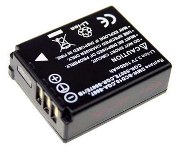 Akku wie Panasonic CGA-S007E für Lumix DMC TZ1, TZ2, TZ3, TZ4, TZ5, TZ11, TZ15, TZ50