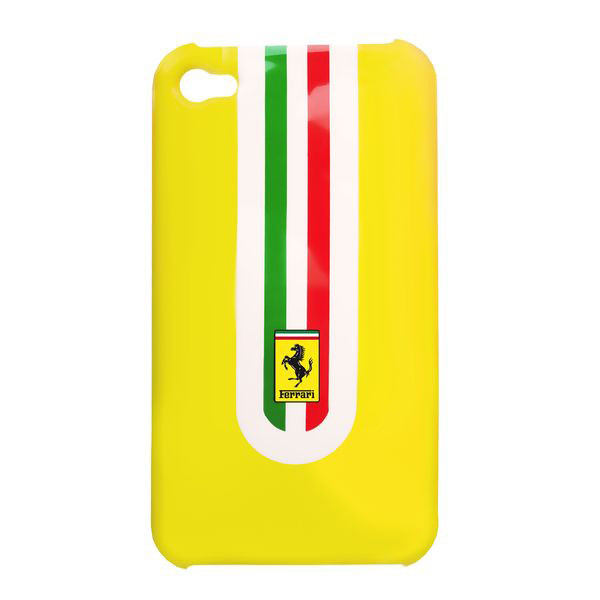 Hard Case fĂĽr Apple iPhone 4, 4S - Ferrari, gelb