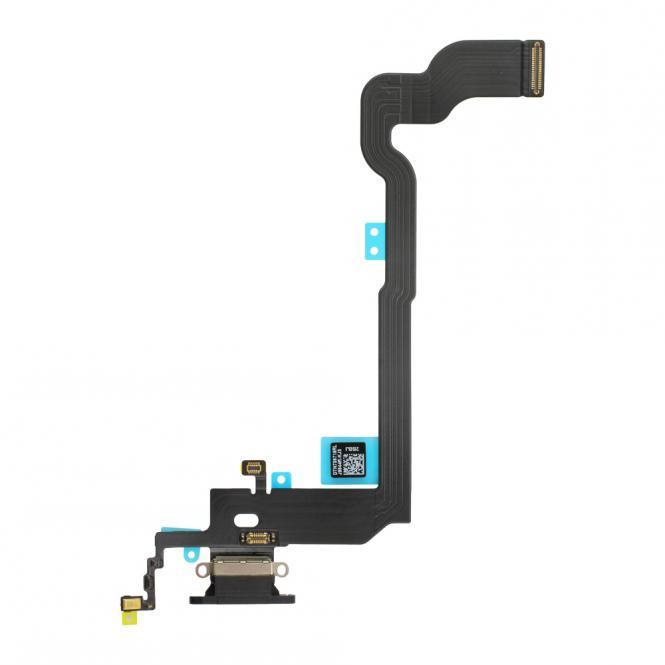 Dock-Connector Lade-AnschluĂź mit Flexkabel fĂĽr iPhone X, grau
