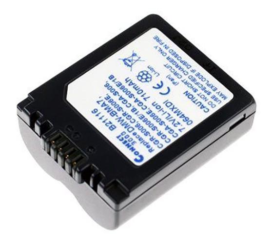 Akku wie Panasonic CGA-S006, CGA-S006E, CGR-S006E, DMW-BMA7, BP-DC5 für Lumix DMC, Leica BP-DC5E