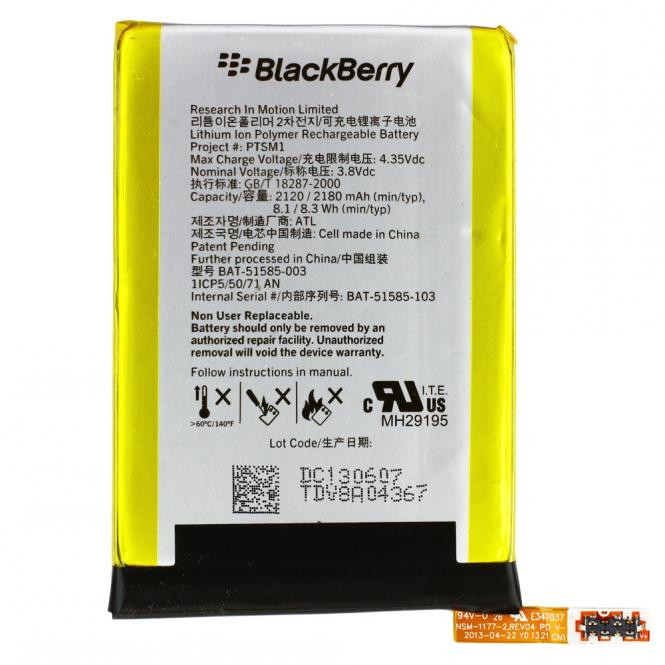 BlackBerry RIM Akku BlackBerry Original für BlackBerry Q5, Typ BAT-51585-103