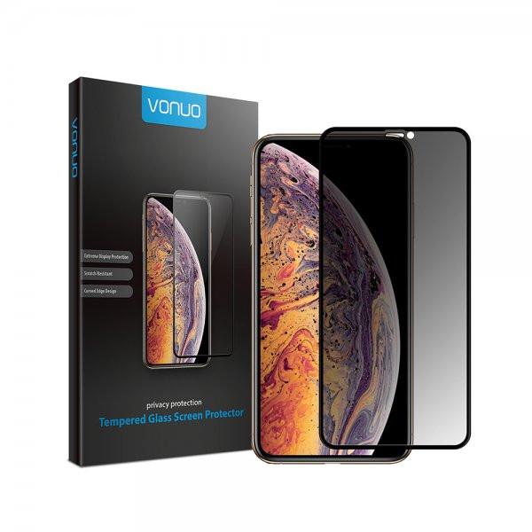 Displayschutz-Glas mit Sichtschutz für Apple iPhone XR, iPhone 11, aus gehärt...