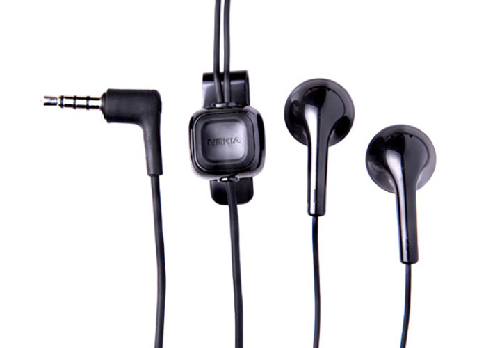 Stereo-Headset original Nokia WH-102, HS-125, 3.5 mm Stecker, schwarz