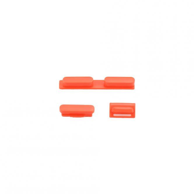 Apple Tasten-Set mit Volume-, Mute-und Power-Taste iPhone 5C, rot