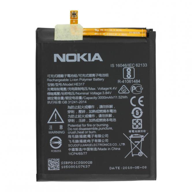 Akku Nokia Original für Nokia 6, Typ HE317, 3.84V, 3000 mAh