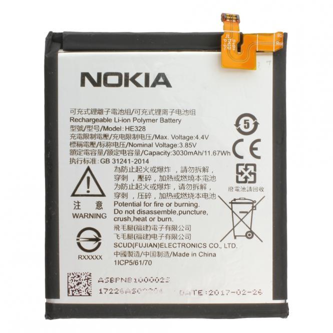 Akku Nokia Original für Nokia 8, Typ HE328, 3.85V, 3030 mAh