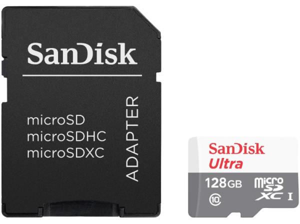 Speicherkarte micro-SDXC Card (Trans Flash), 128 GB, Class 10, inkl. Adapter auf SD-Card